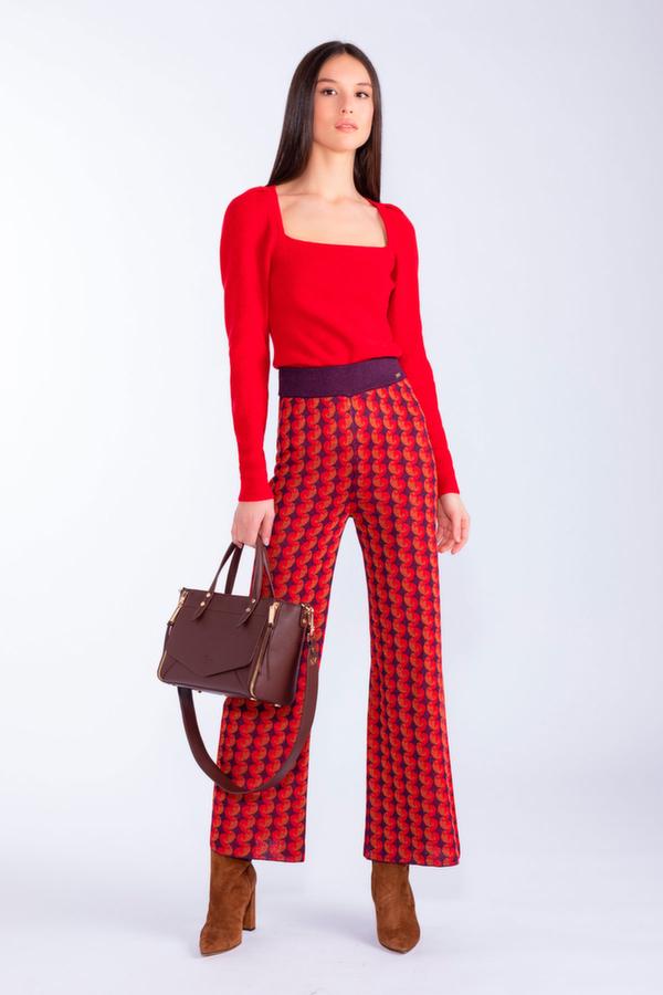 Pantaloni tricot fantasia