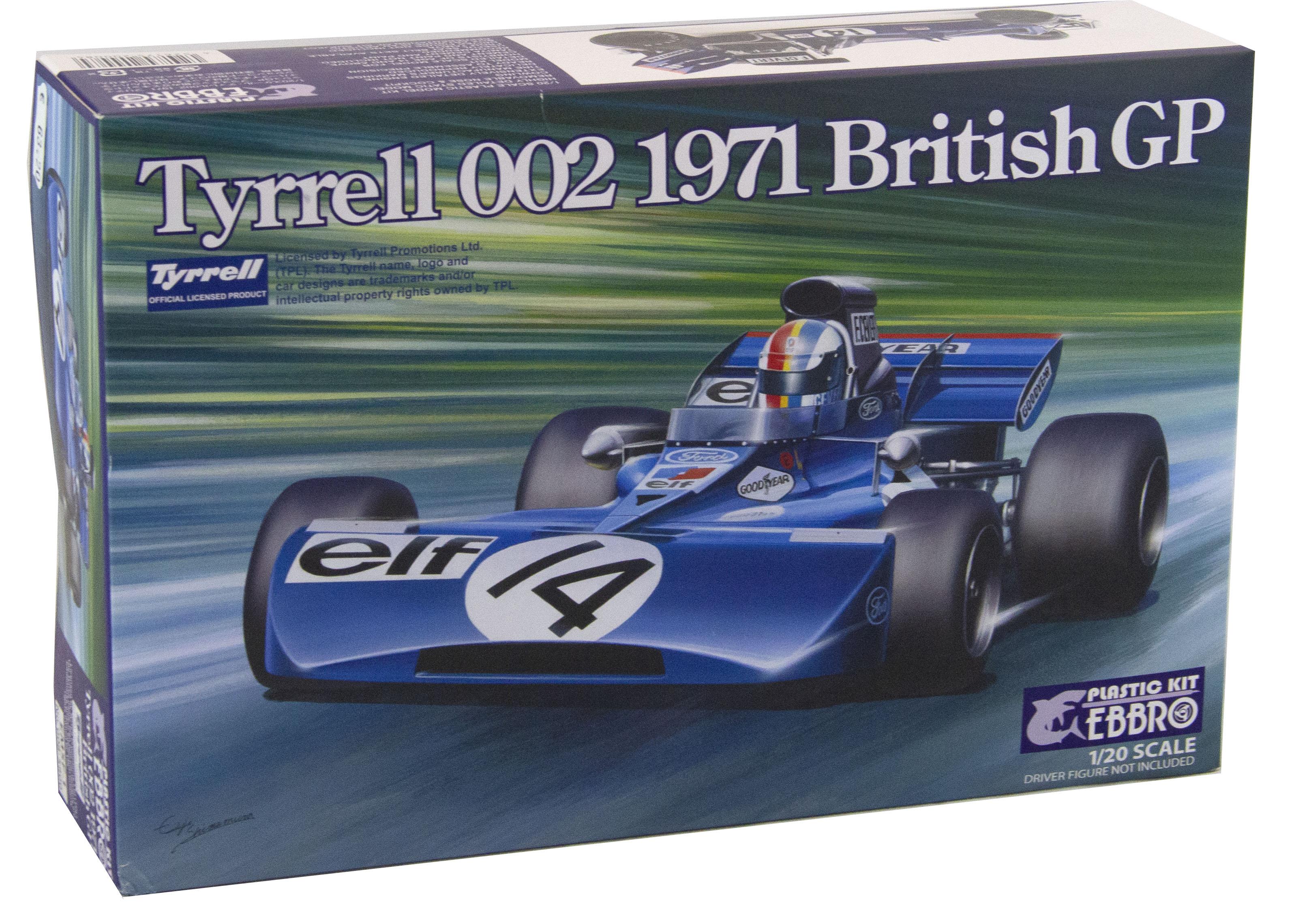 Kit Auto f1 Tyrrell 002  1971 British Gp - 1/20