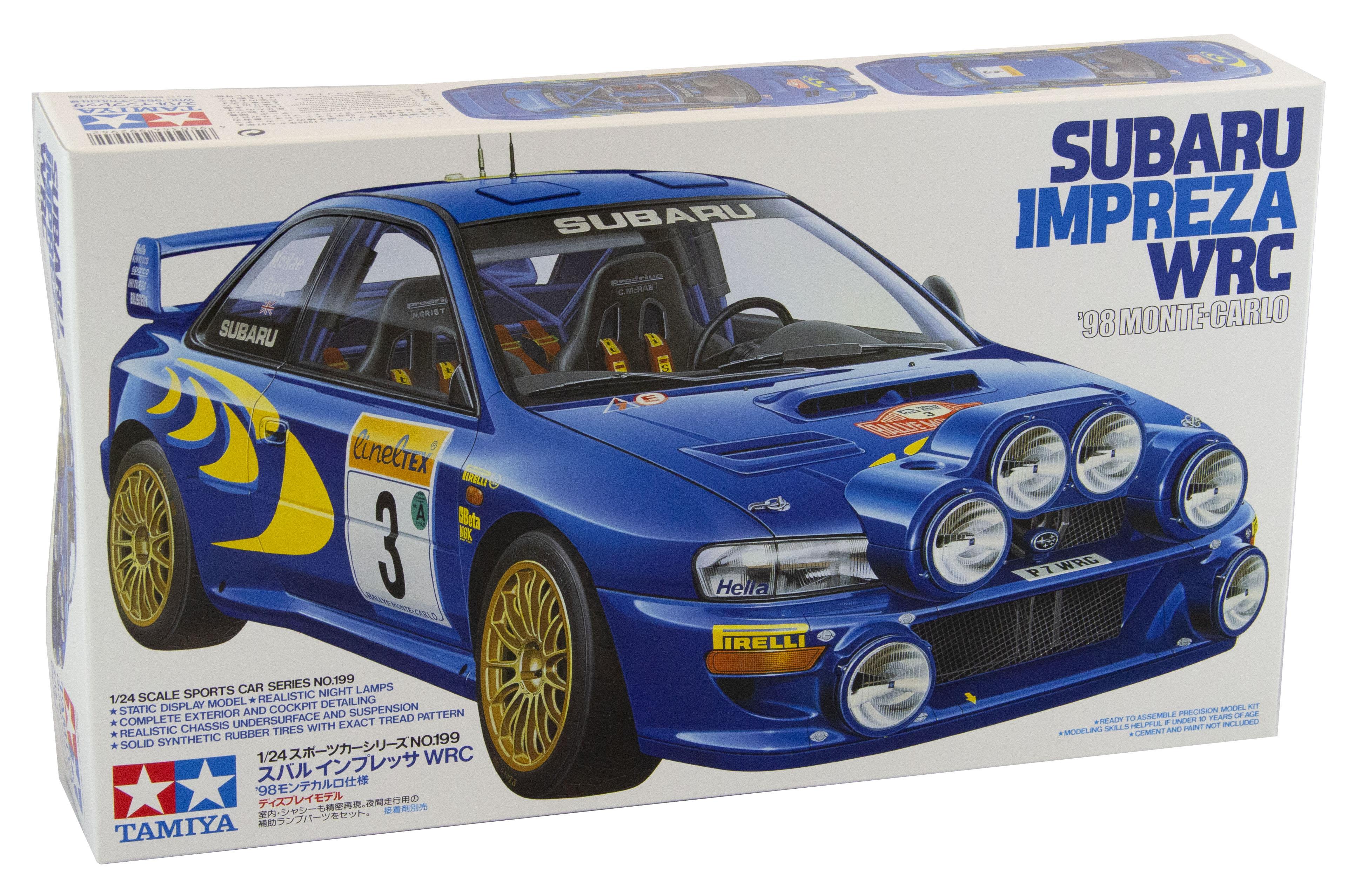 Kit Auto Subaru Impreza Wrc Monte 98 1/24