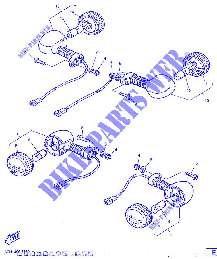 Lente Lampeggiatore Yamaha WR/TT