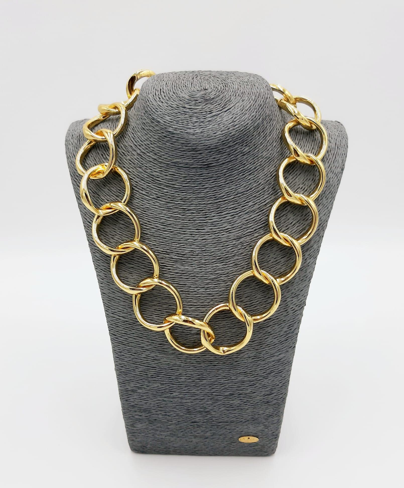 Catena lunga anelli larghi Francesca Bianchi Design