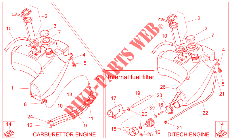 Flangia Aprilia SR Ditech/Carburatore/Street/H20