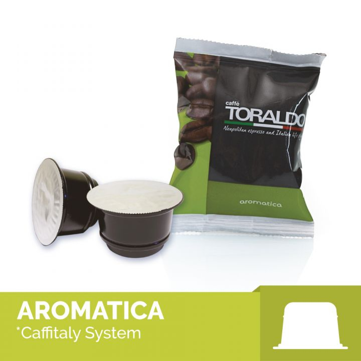 100 capsule compatibili Caffitaly miscela aromatica Toraldo