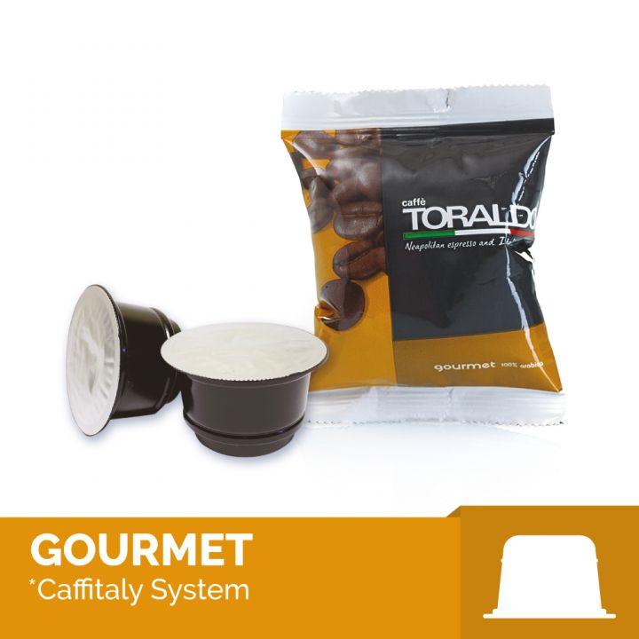 100 capsule compatibili Caffitaly miscela gourmet arabica Toraldo