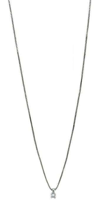 Girocollo Yukiko punto luce a grif in oro bianco 18 ktcon diamante kt.0,04