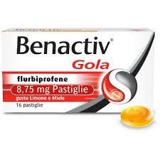 Benactiv Gola Limone Miele 16 pastiglie