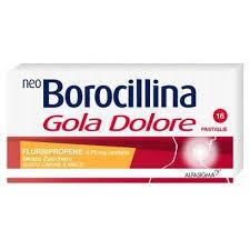 Neoborocillina Gola Dolore senza zucchero Limone Miele 16 pastiglie