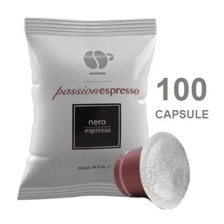 100 CAPSULE NESPRESSO NERA LOLLO CAFFE'