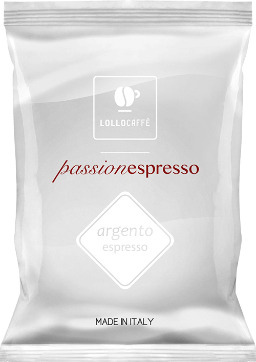 100 CAPSULE NESPRESSO ARGENTO LOLLO CAFFE'