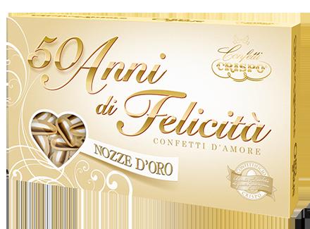 500 GR CONFETTI CRISPO NOZZE D'ORO