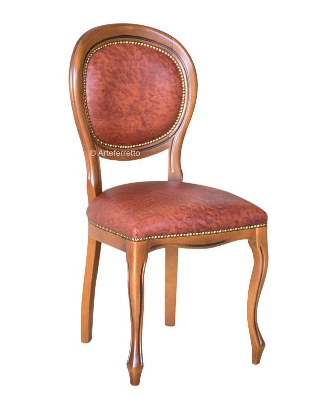 Stuhl aus Leder Louis Philippe