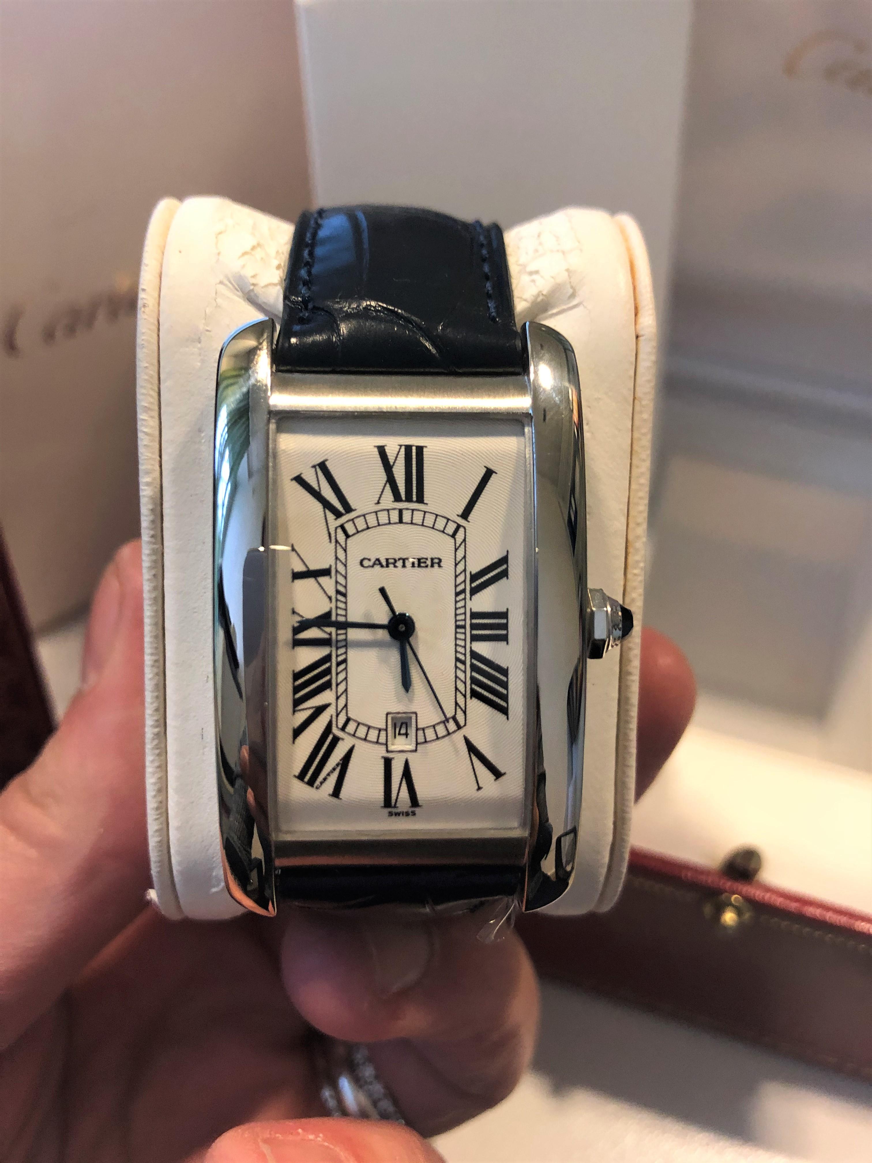 Orologio secondo polso Cartier Tank Americaine 18K