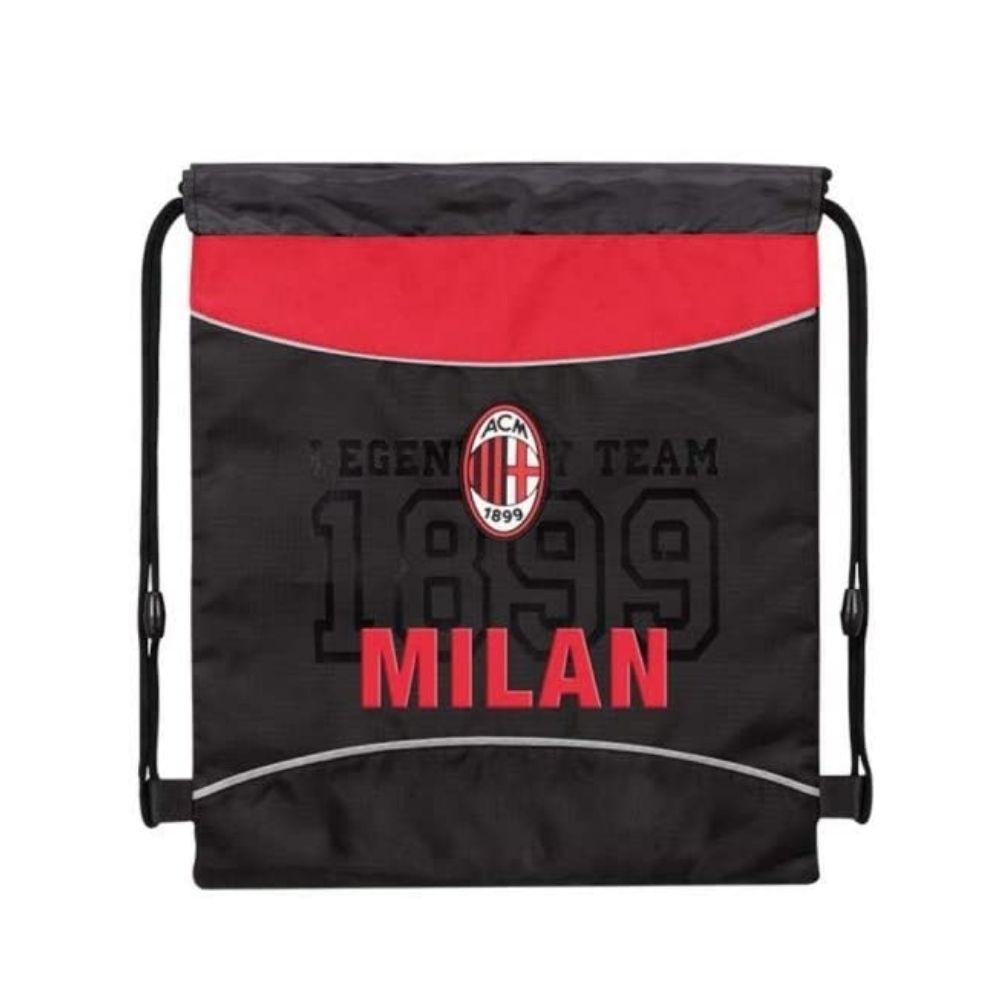 Milan sacca rosso/nera con coulisse multiuso