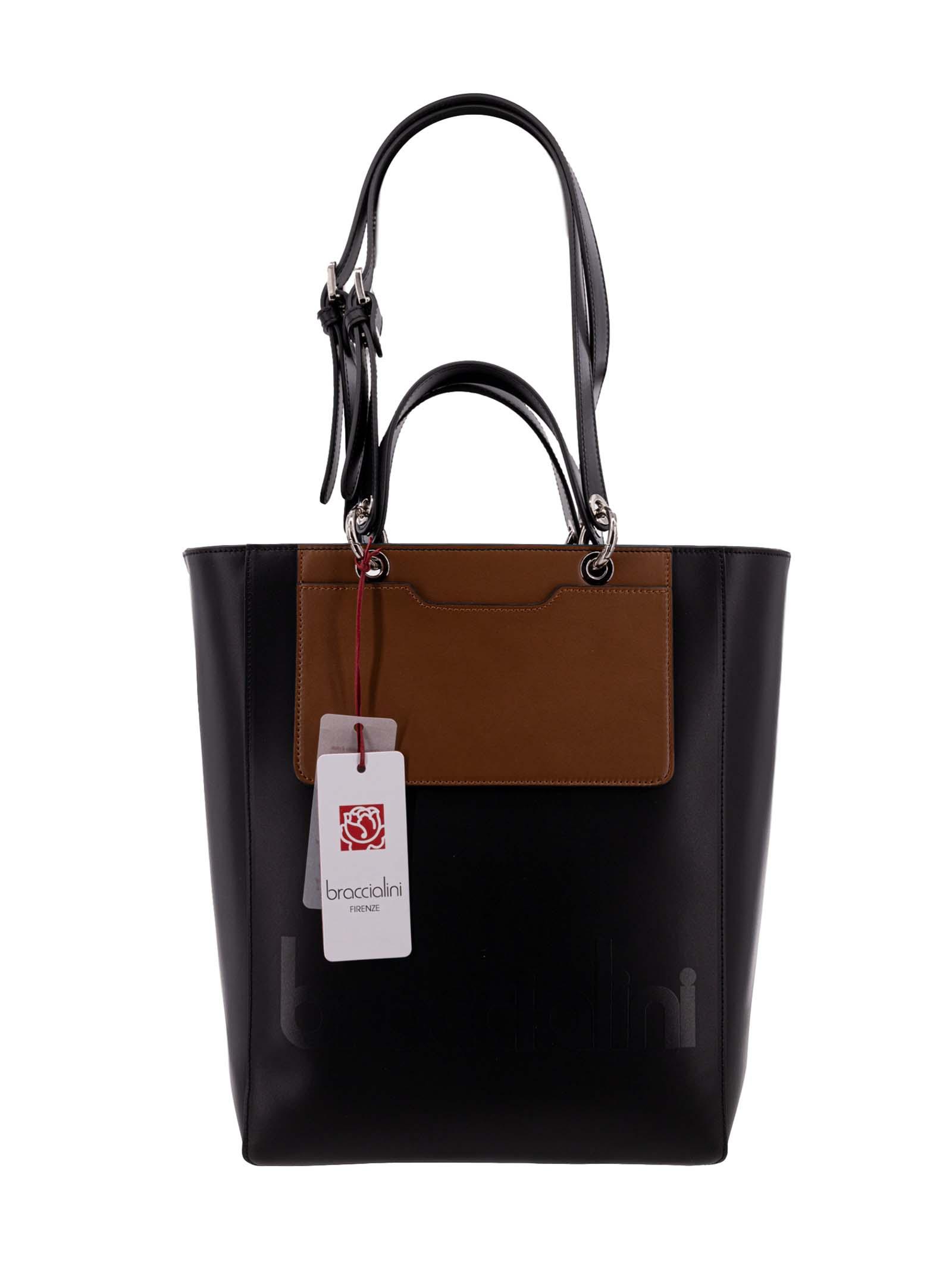 Shopping Braccialini B14690 Nero/Cuoio