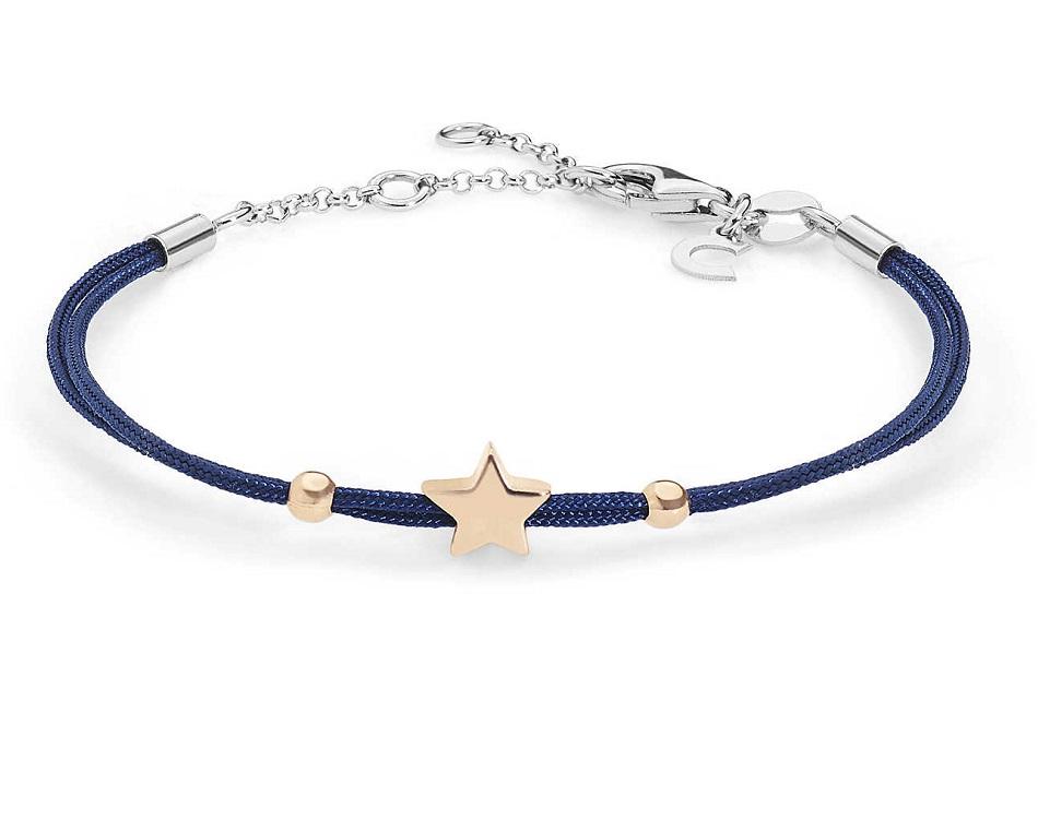 Comete Bracciale Stella, cordino blu