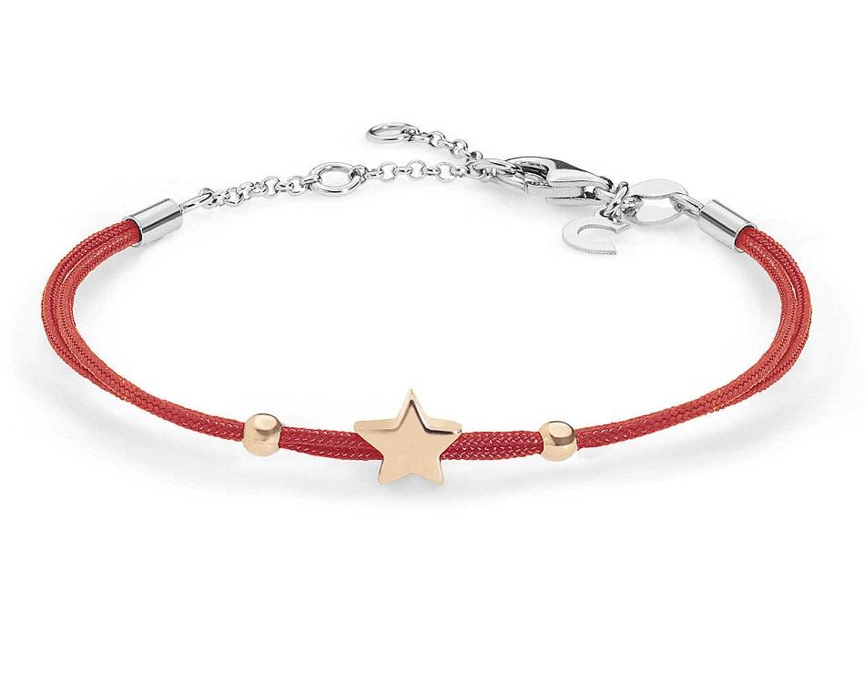 Comete Bracciale Stella, cordino rosso