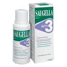 Saugella Acti3 tripla azione detergente intimo 250ml