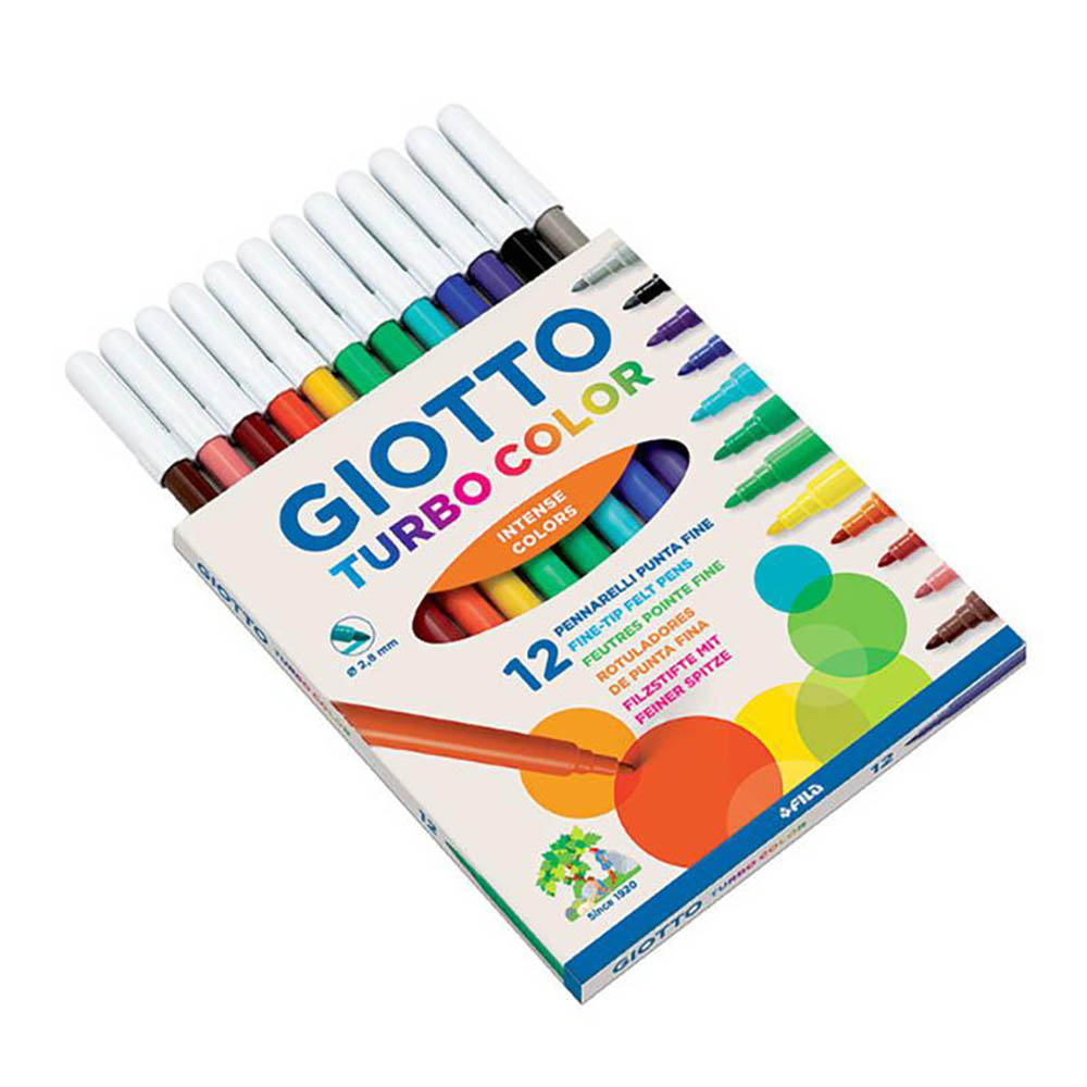 Giotto Turbo Color pennarelli in astuccio da 12