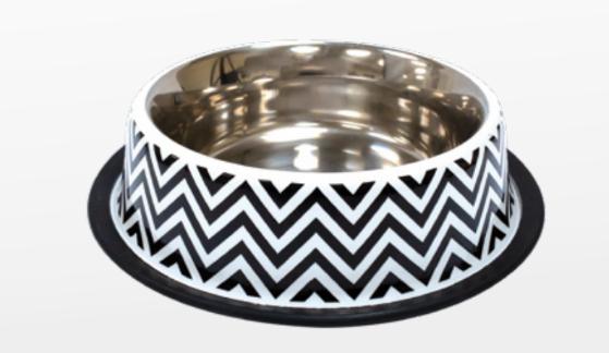 Croci Ciotola per cani  Acciaio Twiggy Stripes