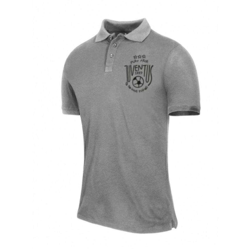 T-shirt 10 anni Juventus manica corta grigia