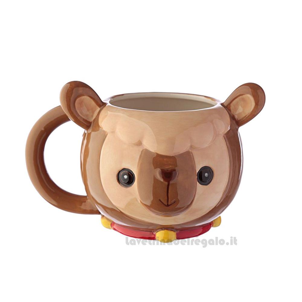 Tazza mug Lama in ceramica con scatola 18x12x11 cm - Idea Regalo