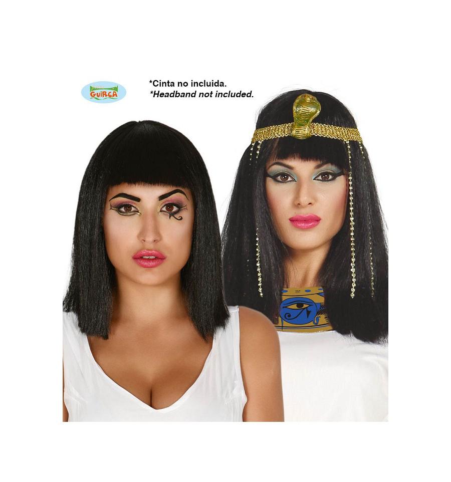 CLEOPATRA Parrucca Egiziana HALLOWEEN