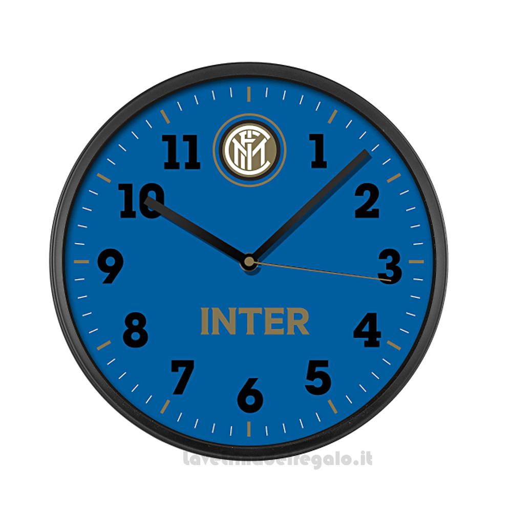 Orologio Nero-Azzurro Inter da parete Lowell in ABS 30 cm - Idea Regalo