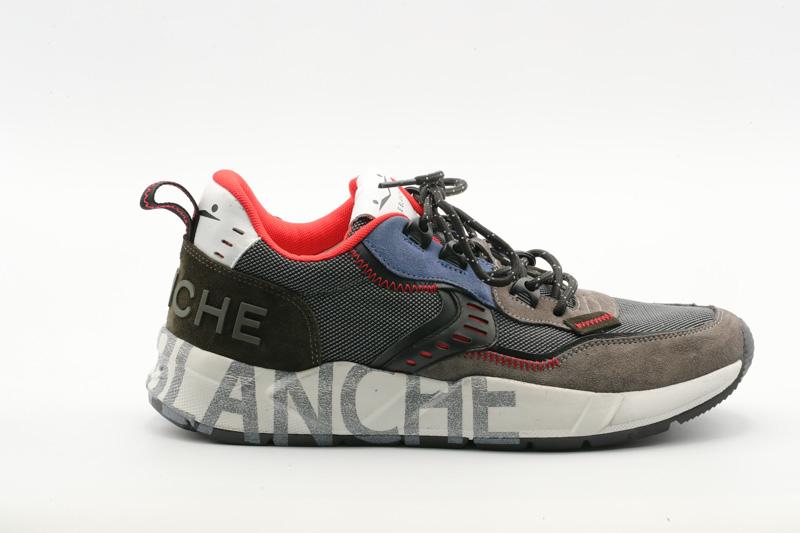 Voile Blanche-Scarpa Uomo Sneakers Velour Club01/Cordura 0012015519.03.0B01