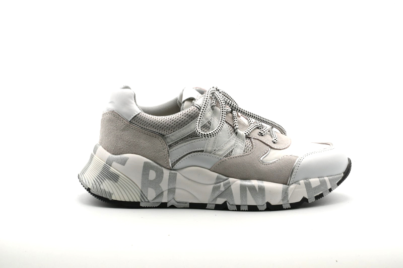 Voile Blanche-Sneakers Donna Club100/Vitello+Nylon+Cordura Lam 0012015541.02.0N01
