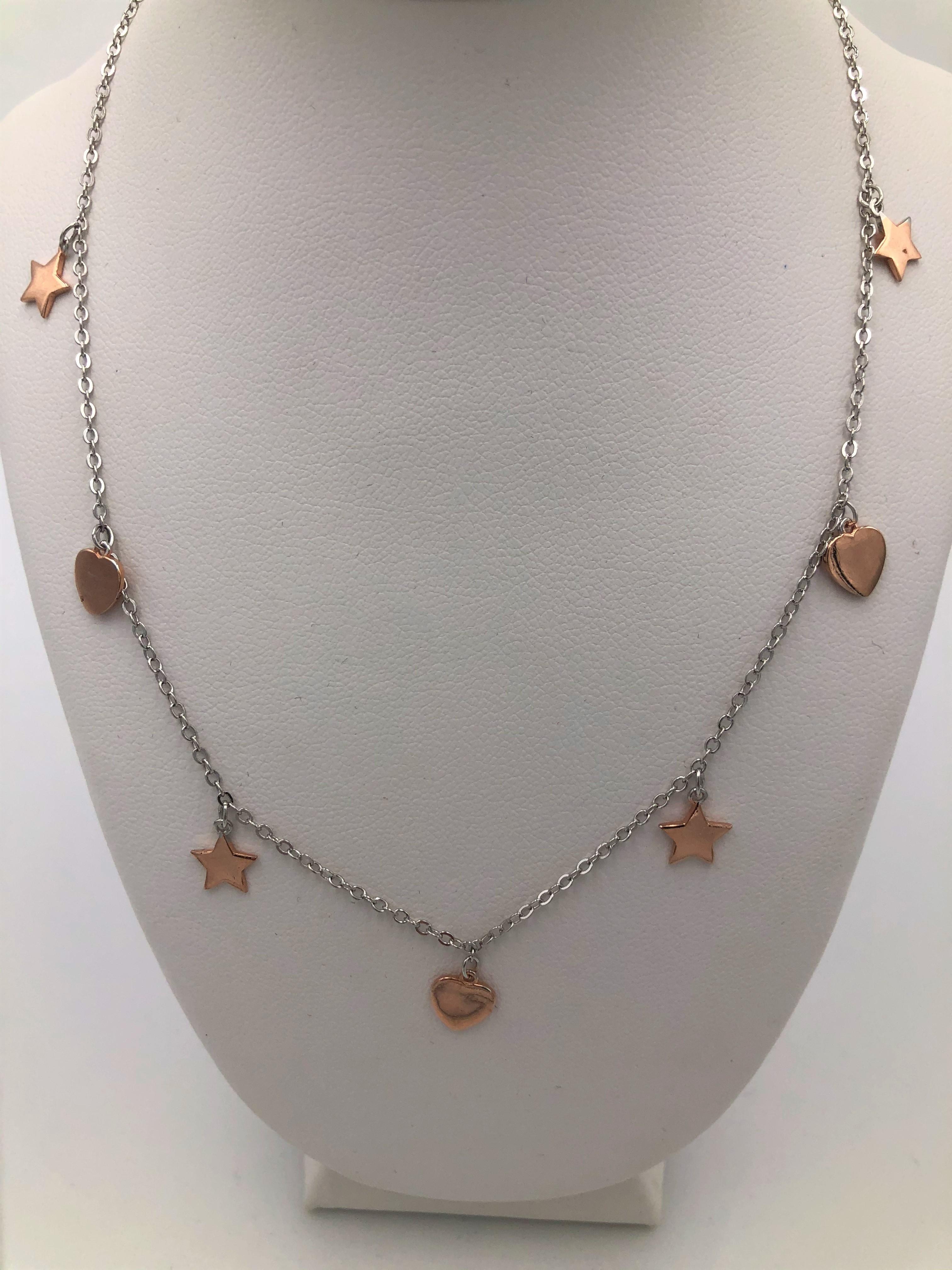 Collana in argento rosato 925% linea Marana