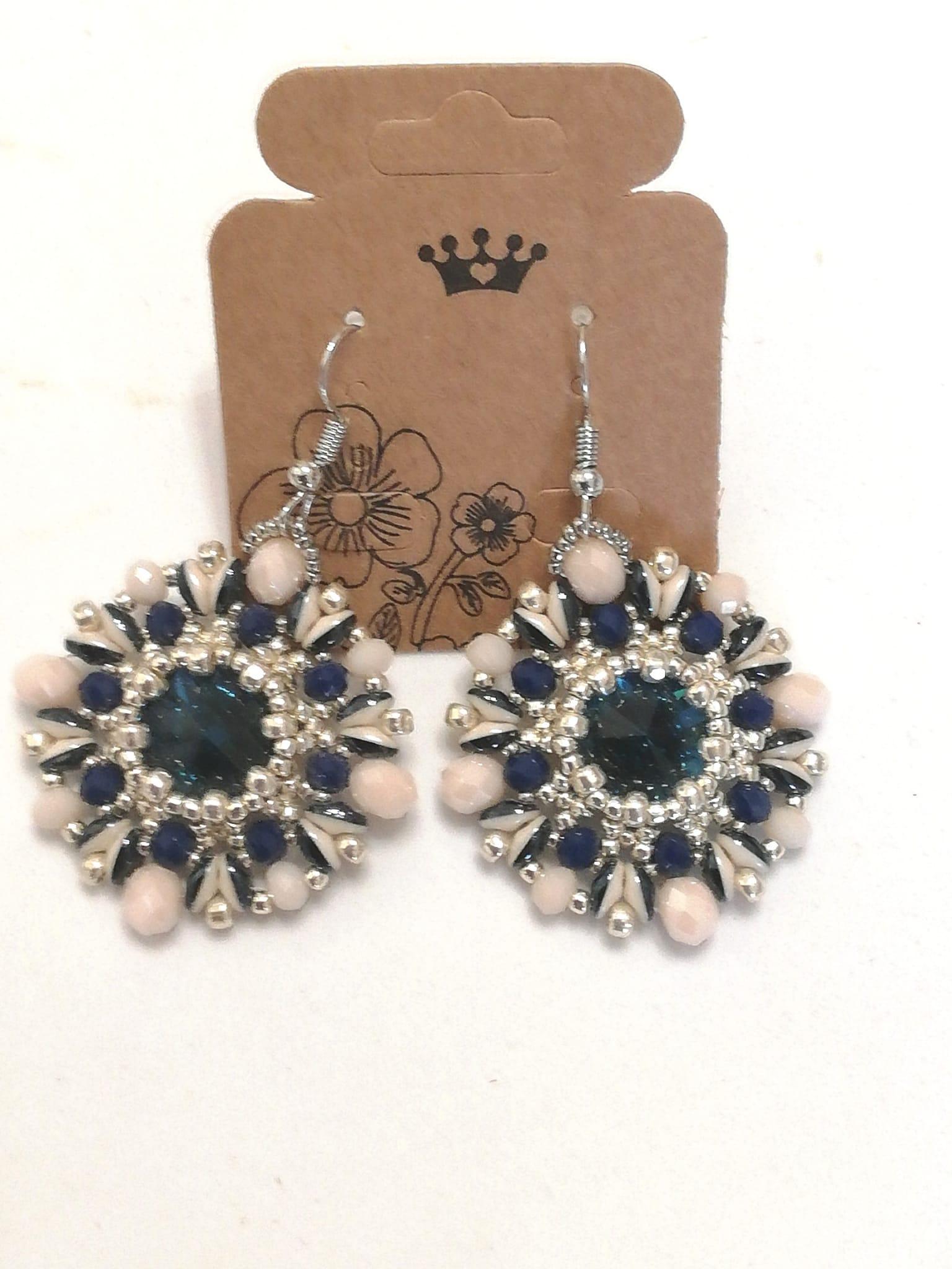 Orecchini tessitura di perline   vendita on-line