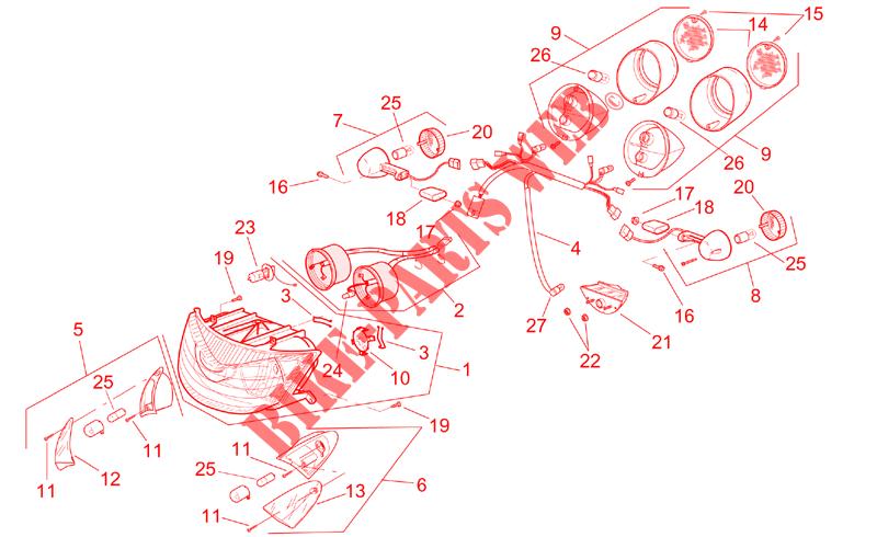 Vetro Prismato Aprilia SR Stealth/Racing