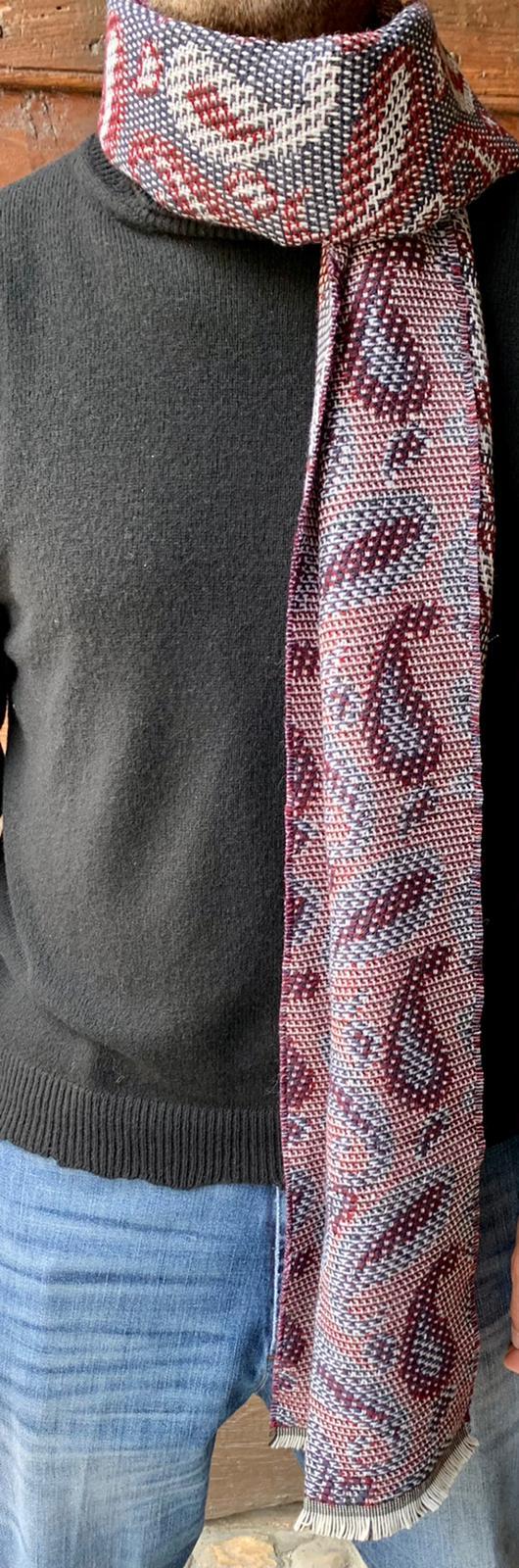 Sciarpa fantasia cashmere double