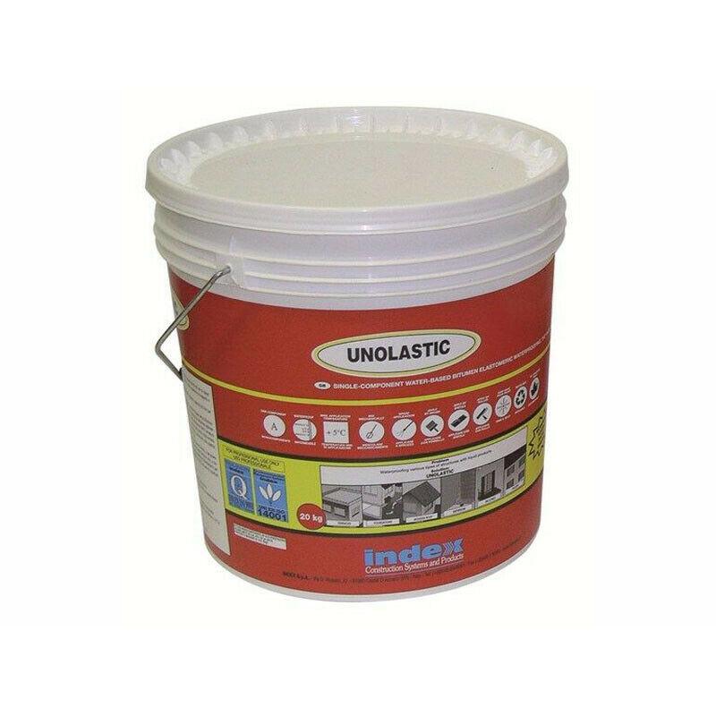 Index Unolastic 20kg guaina liquida impermeabilizzante elastomero bituminoso