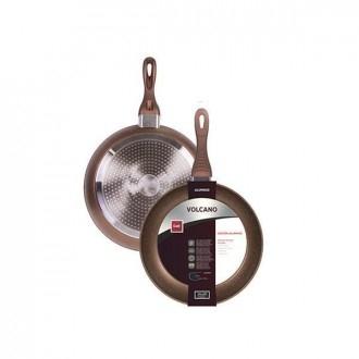 Cegeco Vulcano Padella per Friggere 22Cm Antiaderente in Alluminio Induzione