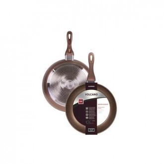 Cegeco Vulcano Padella per Friggere 20Cm Antiaderente in Alluminio Induzione