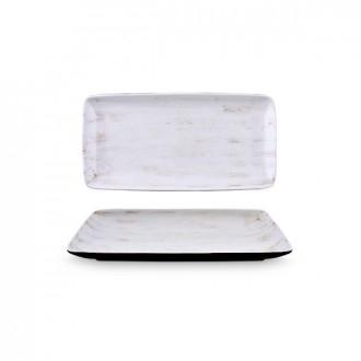 Cegeco Kratos Vassoio 24X12,5Cm Bianco da Cucina