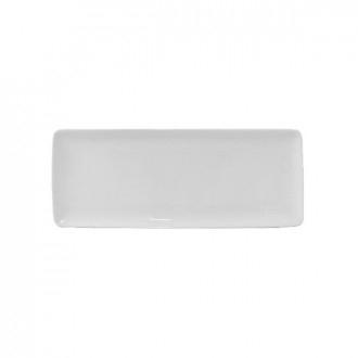Cegeco Delta Teglia 30,5X12CM. Bianca in Porcella, Articoli per la Cucina