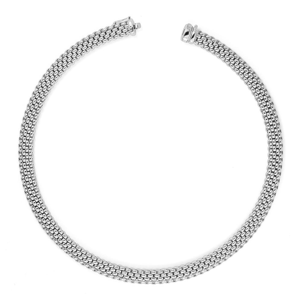 Girocollo Fope collezione Lavinia in oro bianco 18kt
