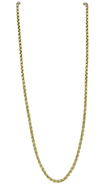 Girocollo Fope in oro giallo 18kt lungo 40 cm chiusura a moschettone