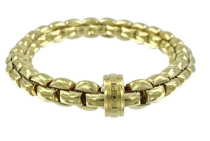 Bracciale Flex'it Fope in oro giallo 18kt maglia cardano