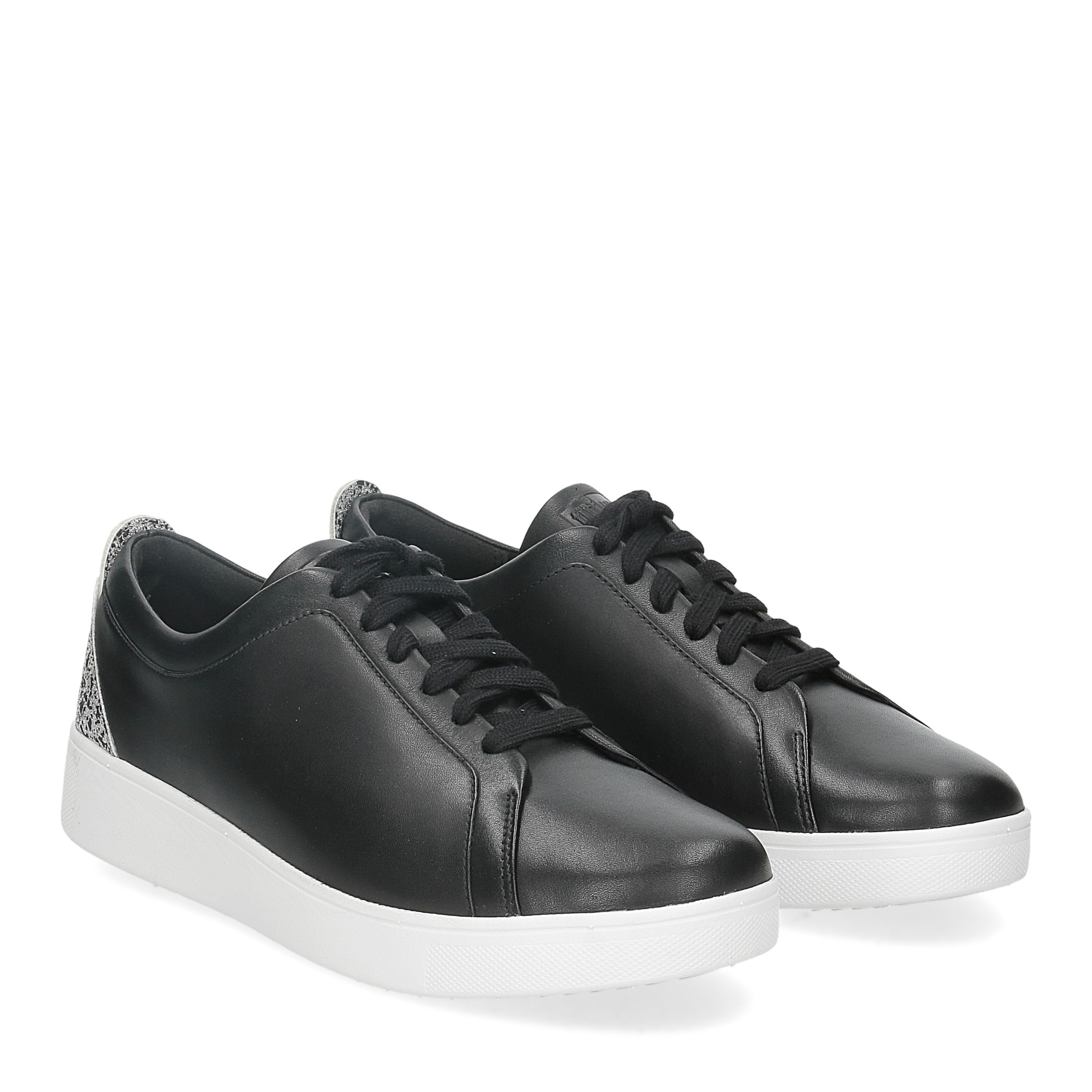 Fitflop Rally glitter sneaker all black mix