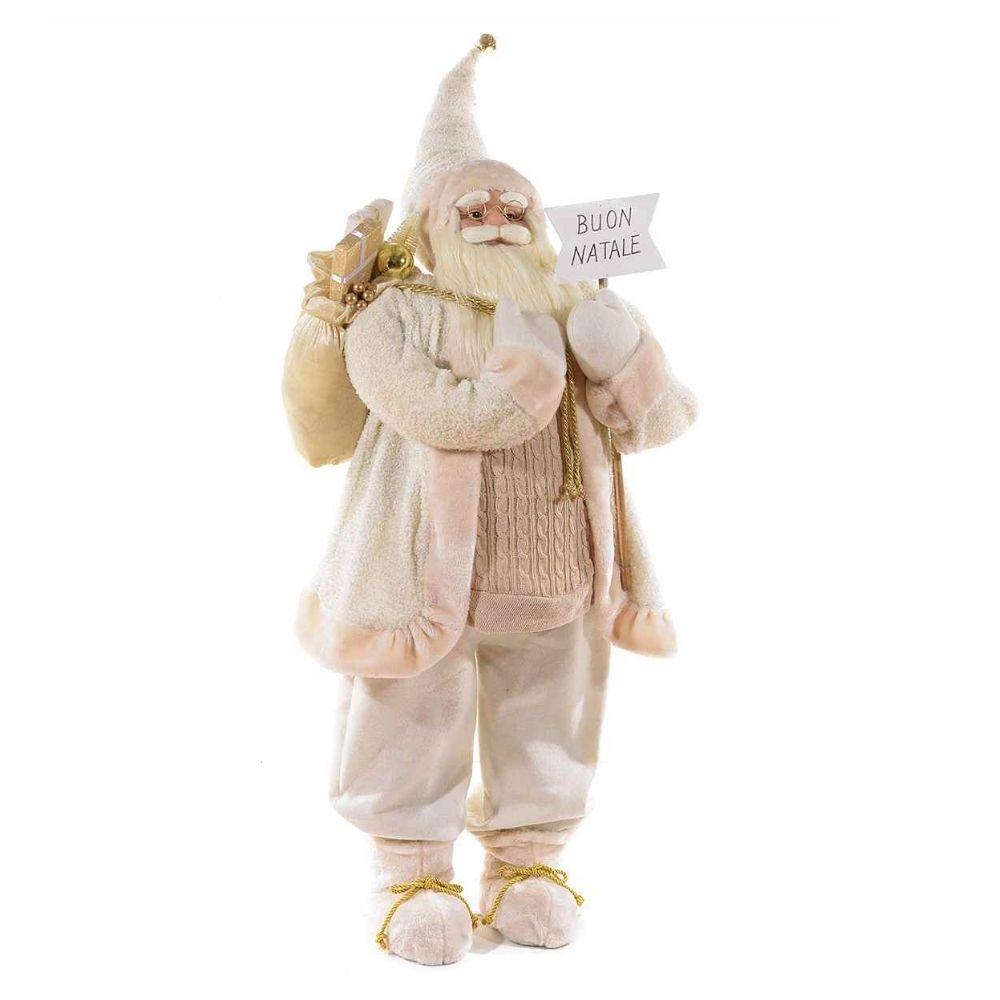 Babbo Natale grande alto 156 cm con scritta Buon Natale