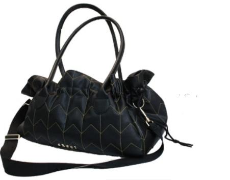Borsa Black Leather 40x22x27cm Croci