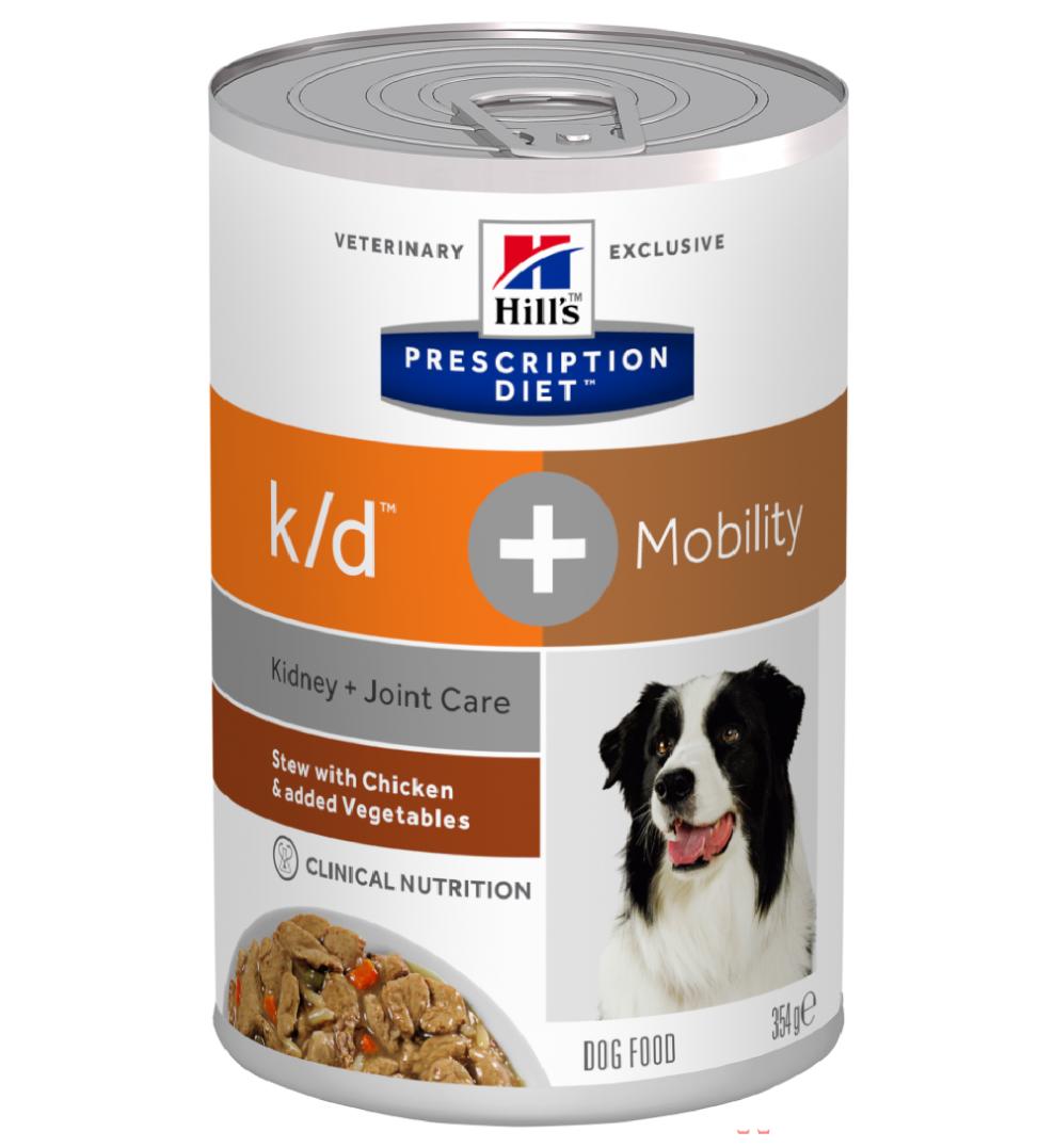 Hill's - Prescription Diet Canine - k/d+Mobility Stew - 354g x 12 lattine