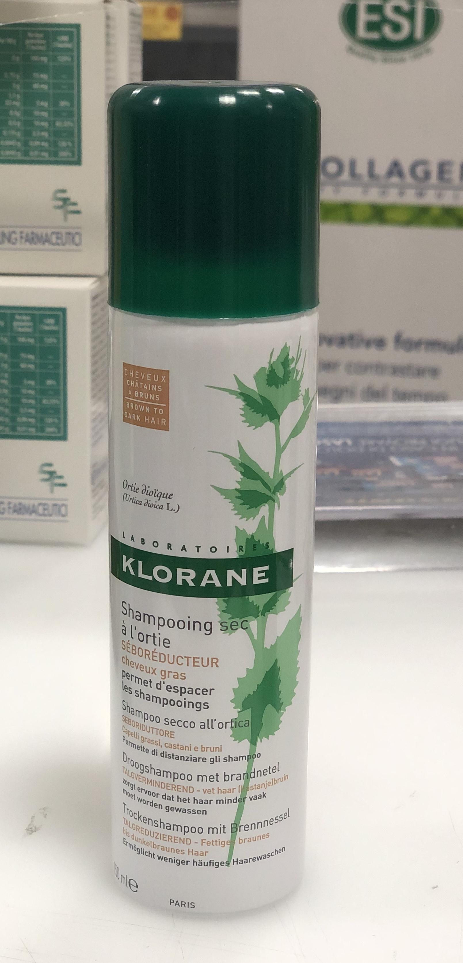 Klorane shampoo secco ortica capelli grassi castani e bruni 150 ml