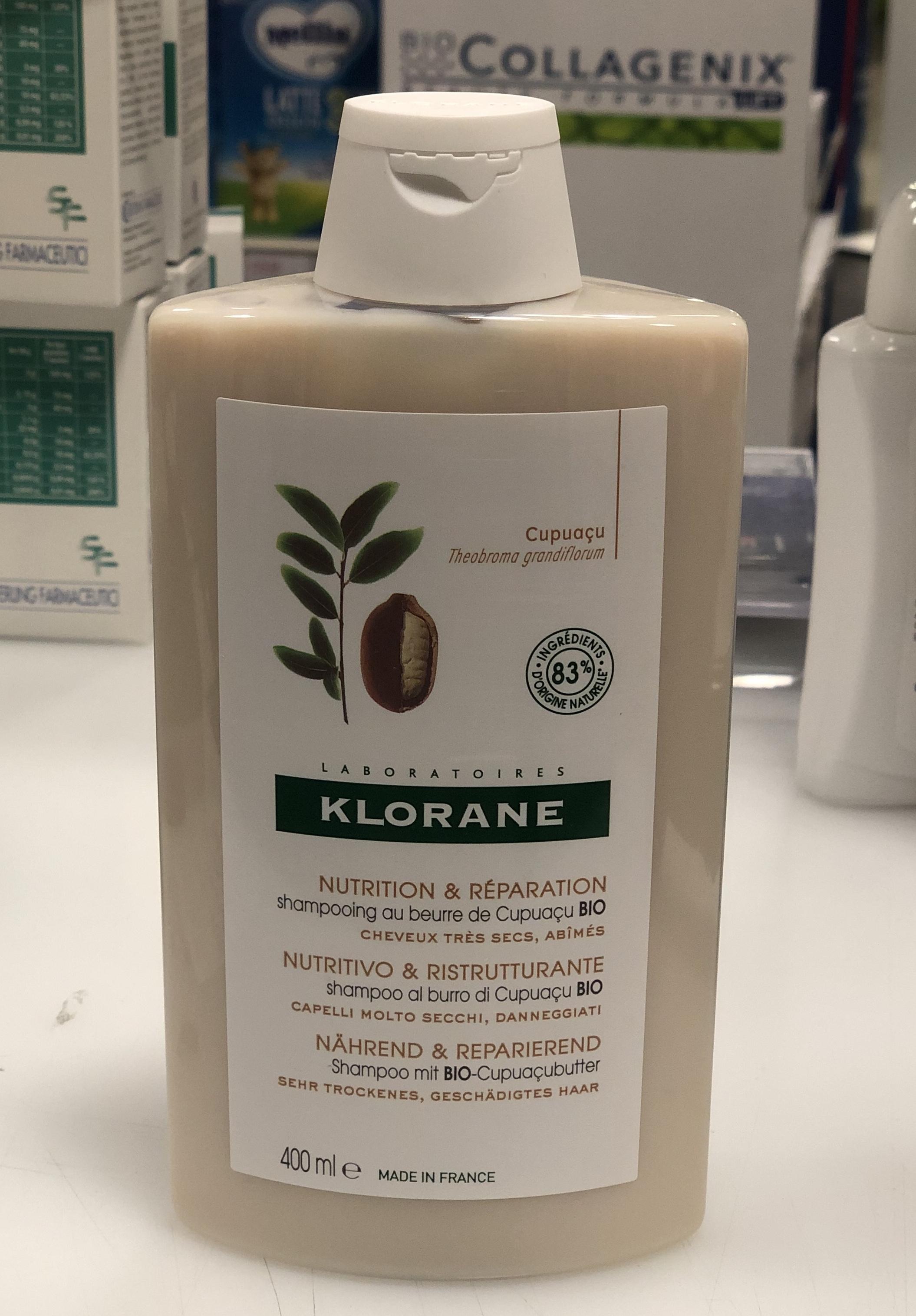 Klorane shampoo al burro di Cupuacu BIO 400 ml