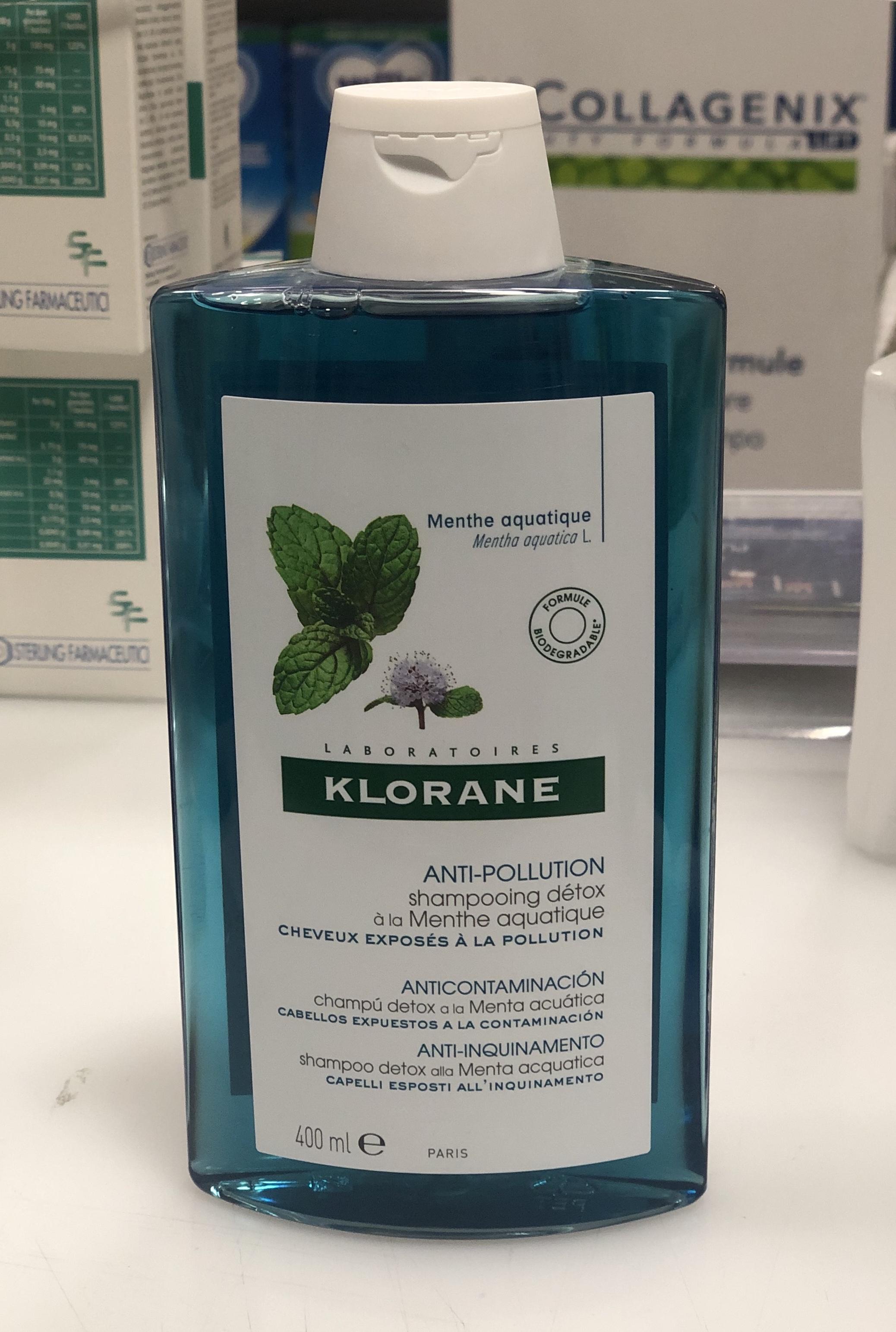 Klorane shampoo detox alla Menta acquatica 400 ml