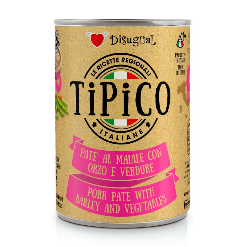 DISUGUAL - TIPICO - MAIALE CON ORZO E VERDURE - 400g