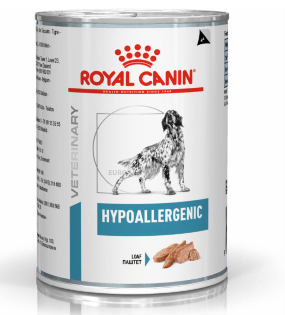 Royal Canin - Veterinary Diet Canine - Hypoallergenic - 400g x 12 lattine